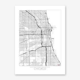 Chicago Map Minimal Art Print