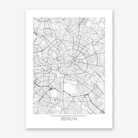 Berlin Map Minimal Art Print