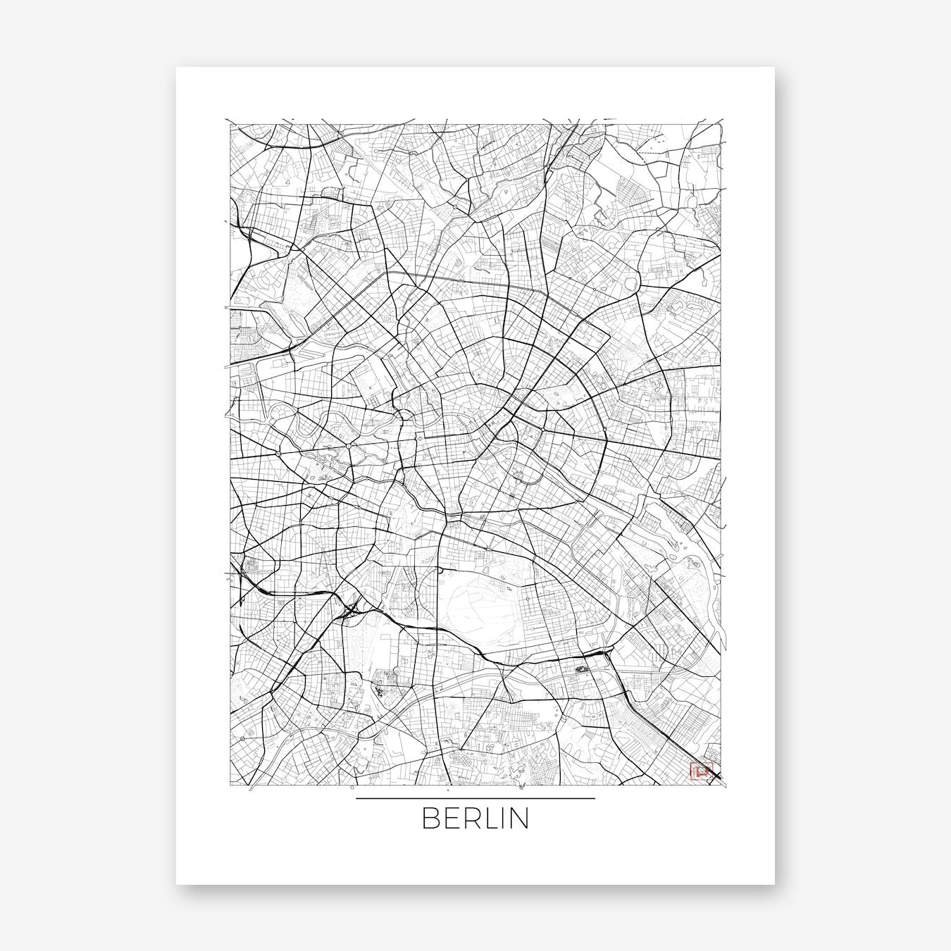 Berlin Map Minimal