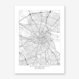 Dublin Map Minimal Art Print