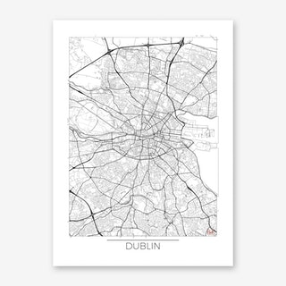 Dublin Map Minimal Art Print