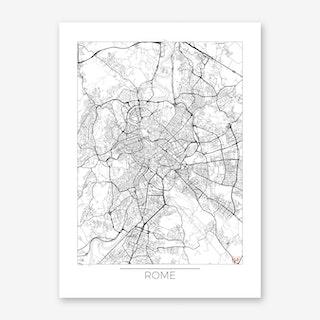 Rome Map Minimal Art Print