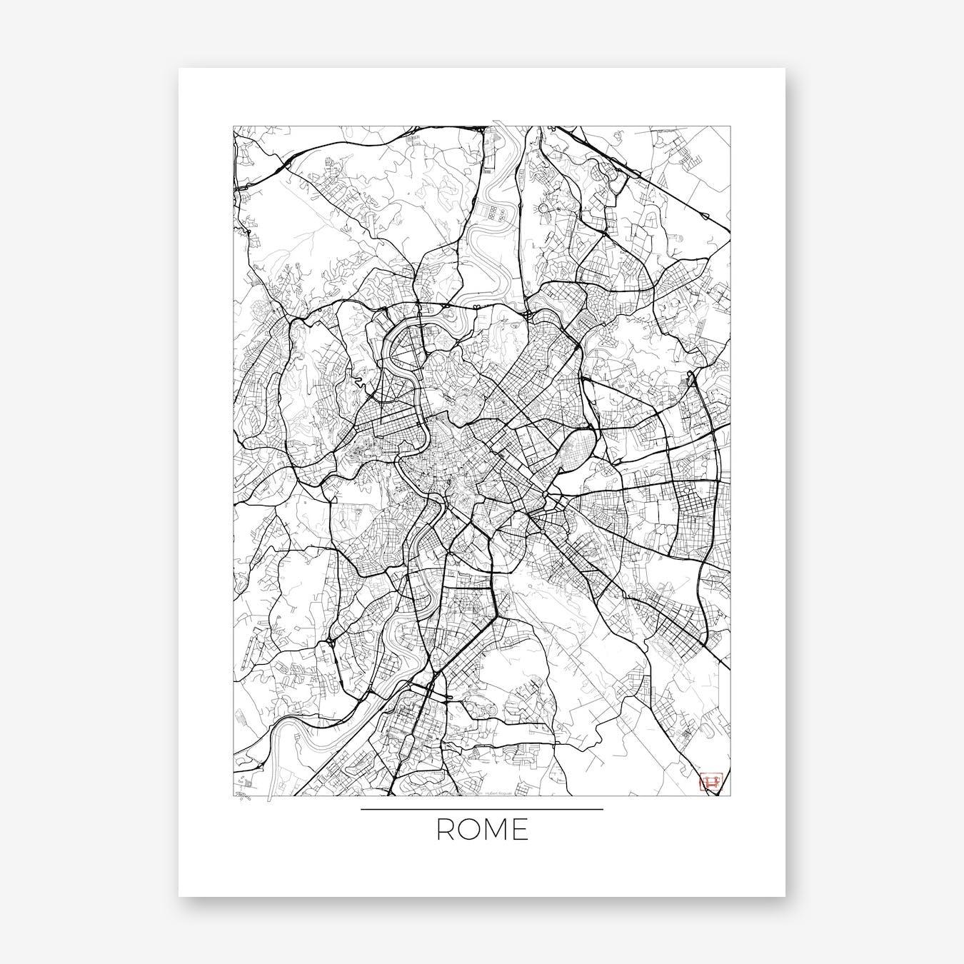 Rome Map Minimal