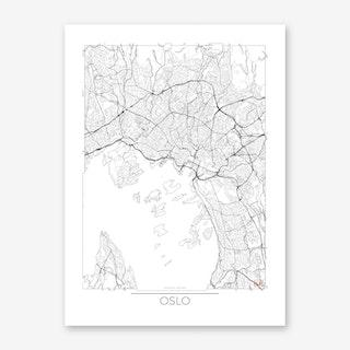 Oslo Map Minimal Art Print