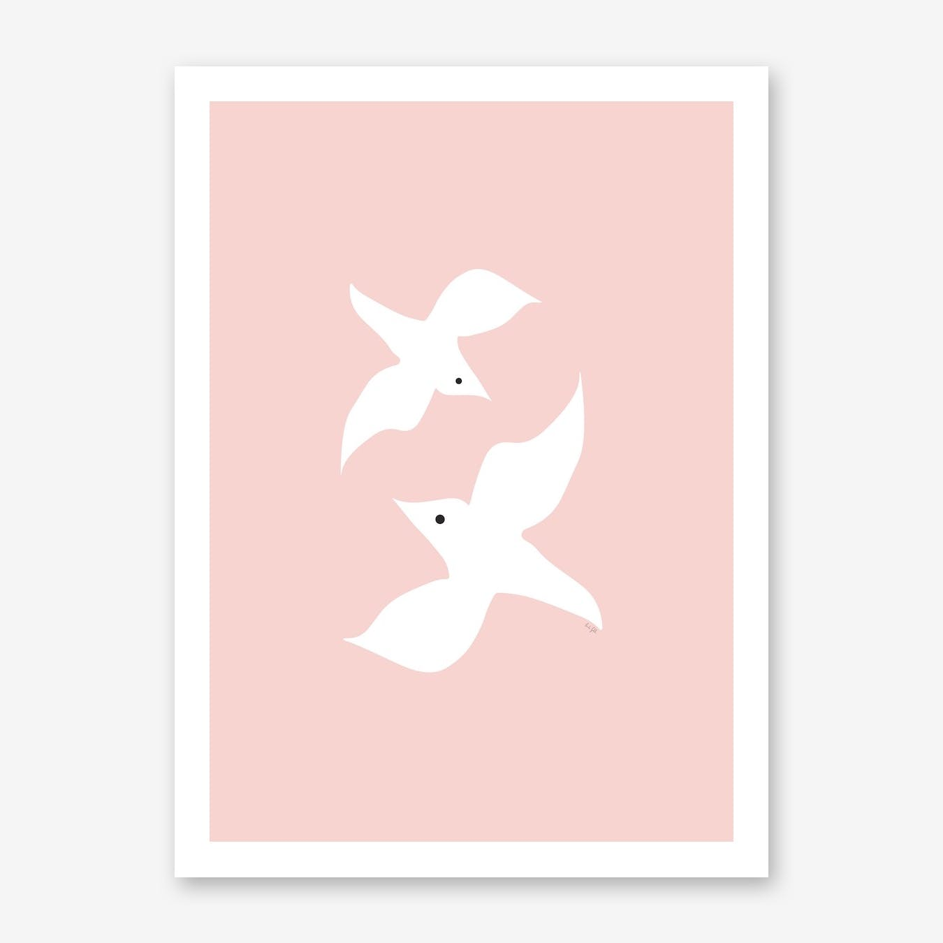 Love Birds In Pink