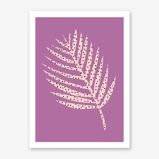 Polka Dot Leaf in Purple