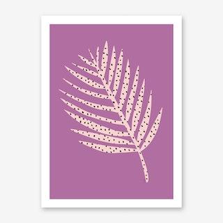 Polka Dot Leaf in Purple Art Print