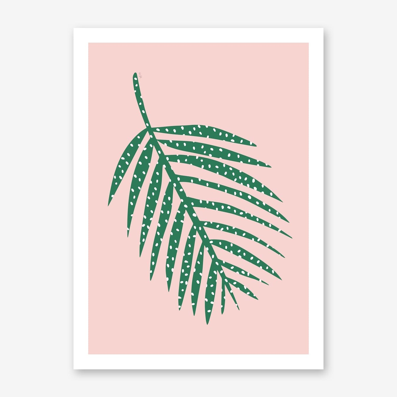 Polka Dot Leaf in Pink
