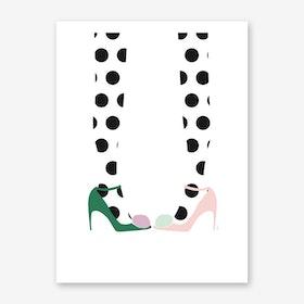 Pom Pom Shoes Art Print