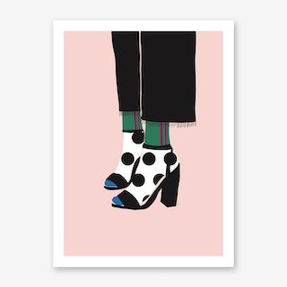Socks And Shoes Art Print