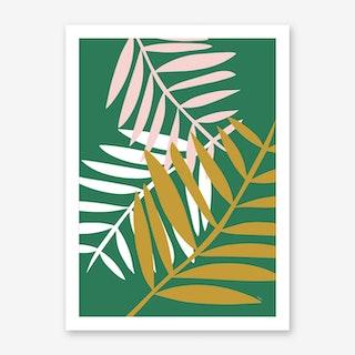 Palm Leaves in Green Art Print