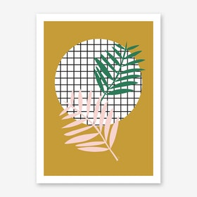 Palm Leaves in Mustard Art Print