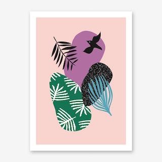 Tropical Bird in Pink Art Print