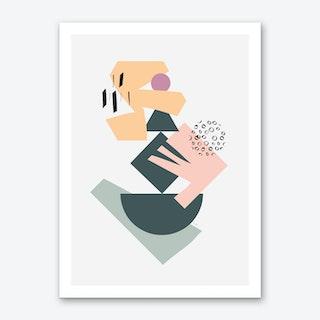 Collage X Art Print