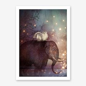 Riding Through the night Art Print