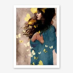 Bye-Bye Butterfly Art Print