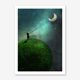 Chasing the Moon Art Print