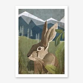 Illu Rabbit Art Print