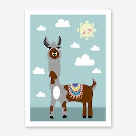 Kids Alpaca II Art Print