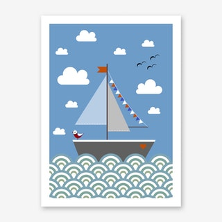 Kids Boat Art Print