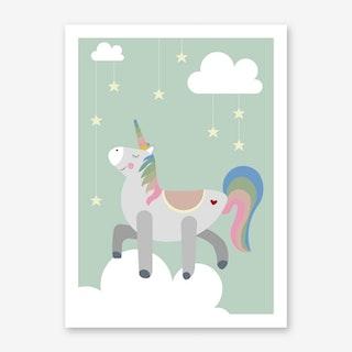 Kids Unicorn Art Print