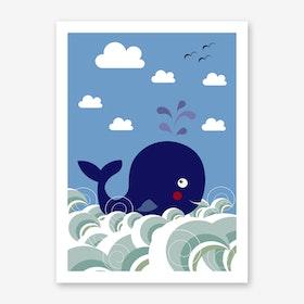 Kids Whale Art Print