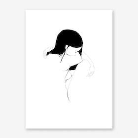 akt3 Sad White Art Print