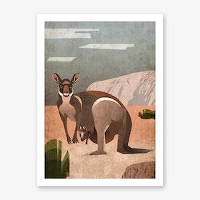 Illu Kangaroo Art Print