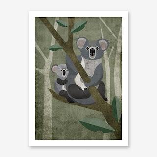 Illu Koala Art Print
