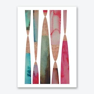 Aqua 4 Art Print
