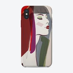 Akt Lady Close iPhone Case