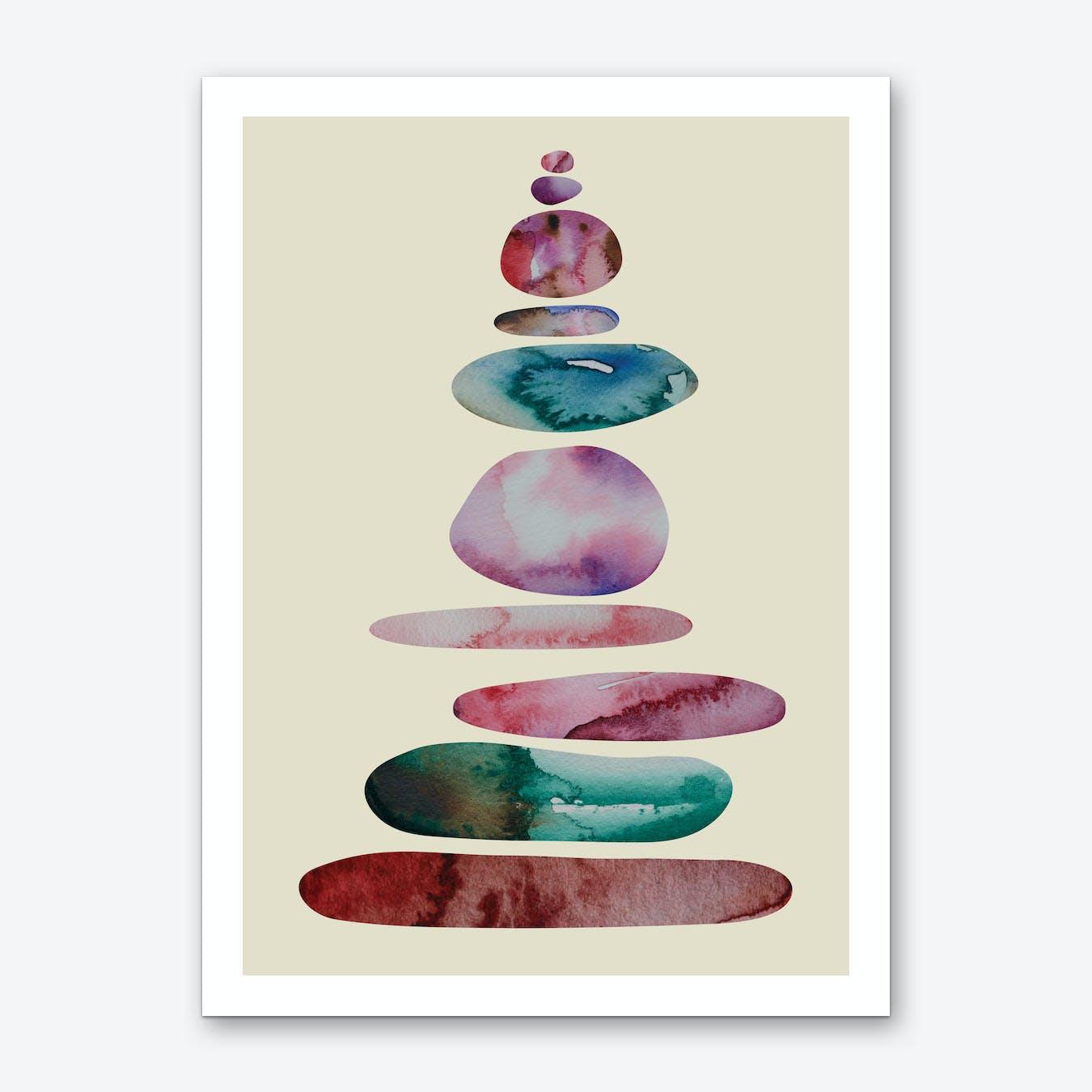 Aqua Turm 1 Balance Art Print