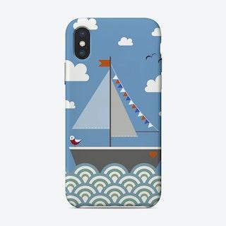 Kids Sailing Boat iPhone Case