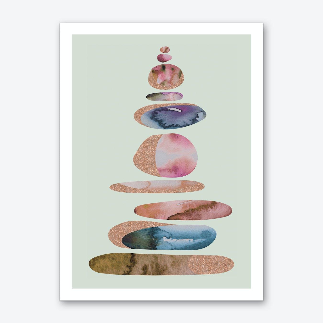Aqua Turm 4 Art Print