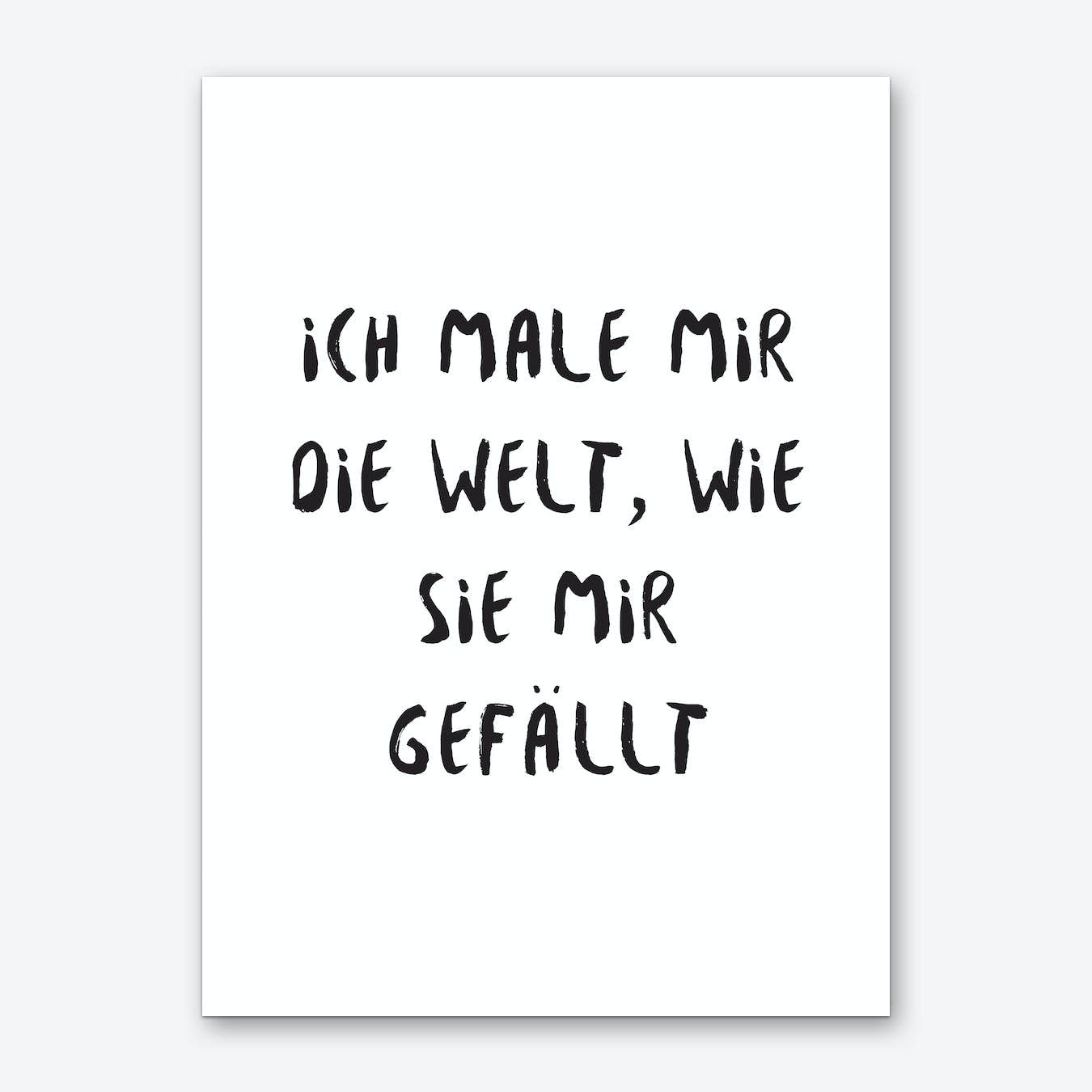 Male Welt Art Print