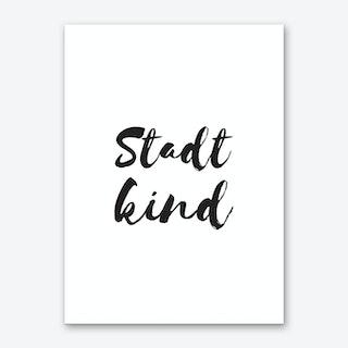 Stadtkind Art Print