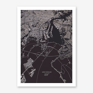 Amsterdam City Map Art Print