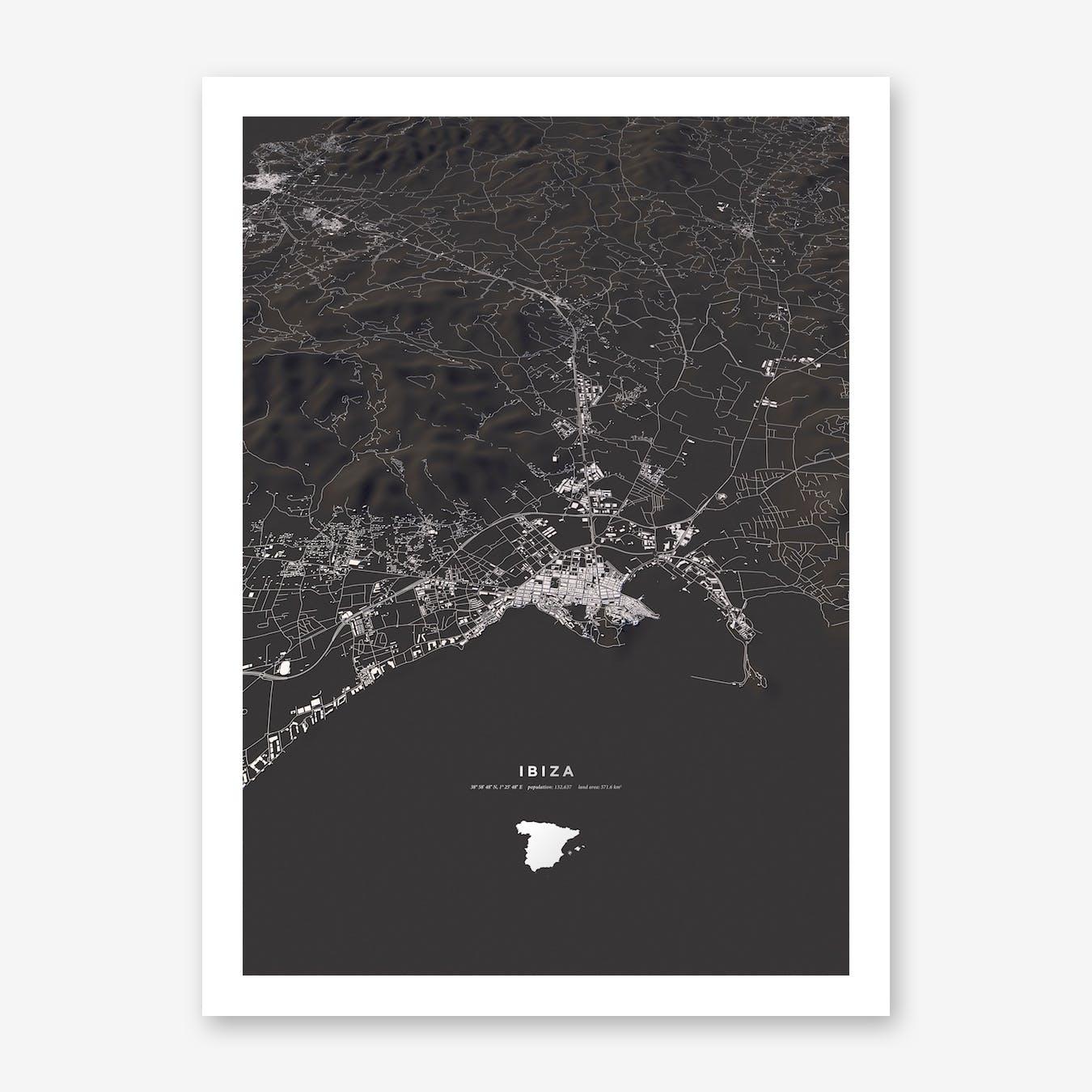 Ibiza City Map