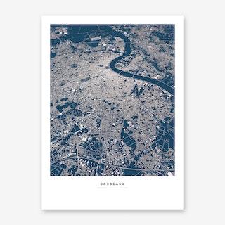 Bordeaux City Map Art Print