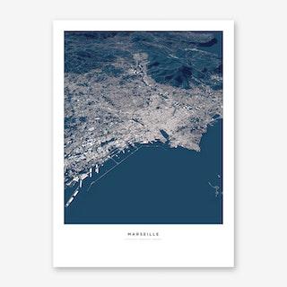 Marseille City Map Art Print