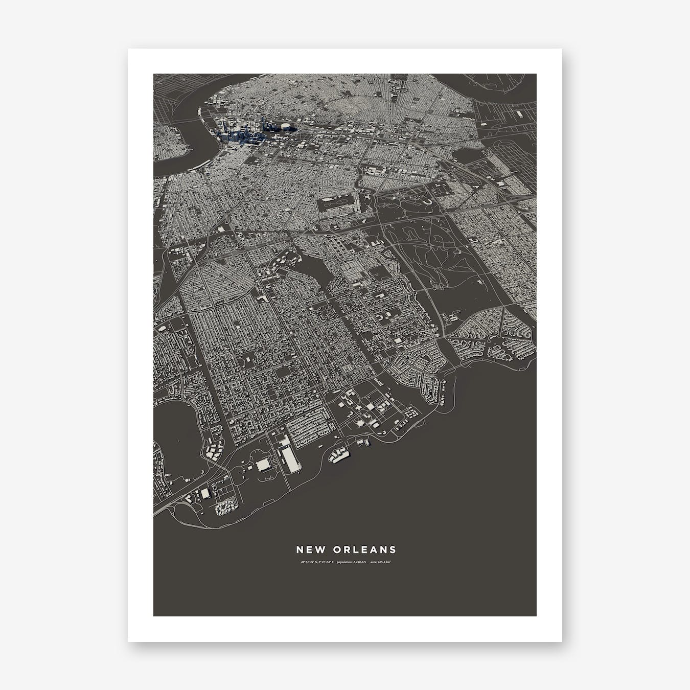 New Orleans City Map