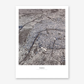 Paris City Map Art Print