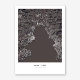 Saint Tropez City Map Art Print