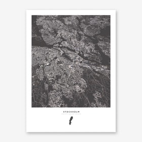 Stockholm City Map Art Print