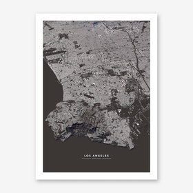 Los Angeles City Map Art Print