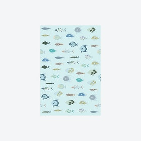 Vissen Lichtblauw Wallpaper