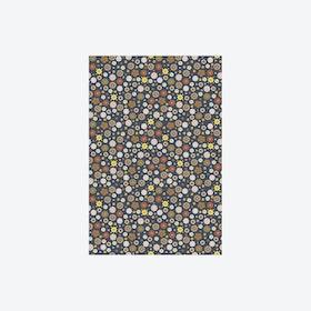 Retro Bloem Donker Wallpaper