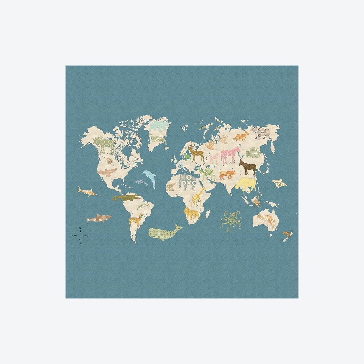 Wereldkaart Wallpaper