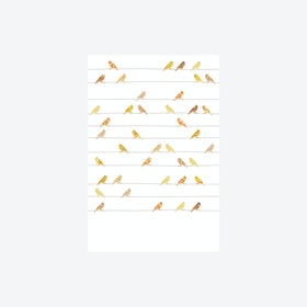 Vogels Geel Wallpaper