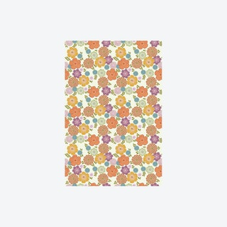 Vintage Bloem Wit Wallpaper